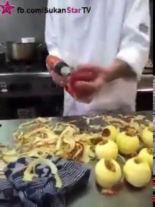 วิธีนี้ขอนำเสนอ ปลอกแอปเปิ้ล แบบควงสว่าน