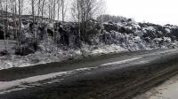 ดินถล่มบนถนนประเทศรัสเซีย