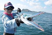 คลิป เมย์มี่ fishingEZ  ตกปลา  ปลาเข็มยักษ์  เต็กเล้ง