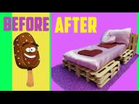 DIY Miniature Doll Bed,Barbie bed from pallets,Barbie,bed from pallets,ice cream stick craft,ice cre