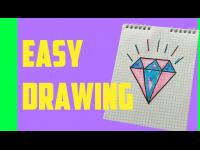 HOW TO DRAW A CUTE DIAMOND SUPER EASY AND KAWAII EASY DRAWING by Devlin Fox