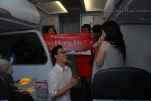 ขอแต่งงาน บนเครื่องบิน