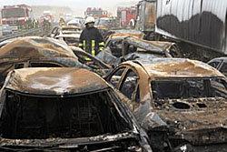 พายุทราย เยอรมัน รถชน อุบัติเหตุ