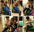 คู่รักออรัลเซ็กซ์บนรถไฟใต้ดินฮ่องกงแบบไม่แคร์สื่อ