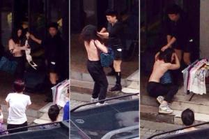 เจ้าของร้านขายเสื้อผ้าที่เมืองจีนจับสาวแก้ผ้าประจาน - หลังจับได้ว่าขโมยของ